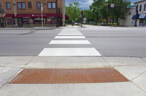 ADA Pedestrian Ramp and Crossing
